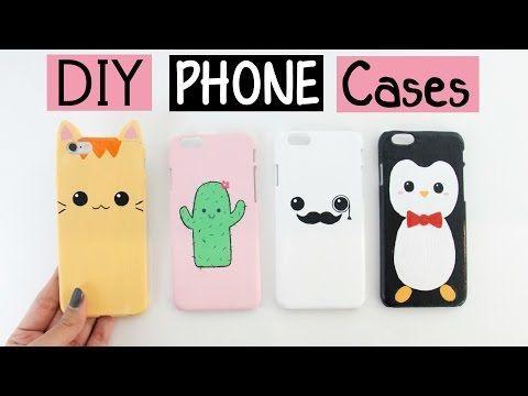 DIY: Fundas Caseras para celulares / DIY Phone Case Designs! - YouTube