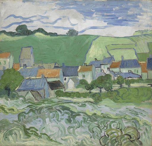 Gezicht op Auvers - Van Gogh Museum
