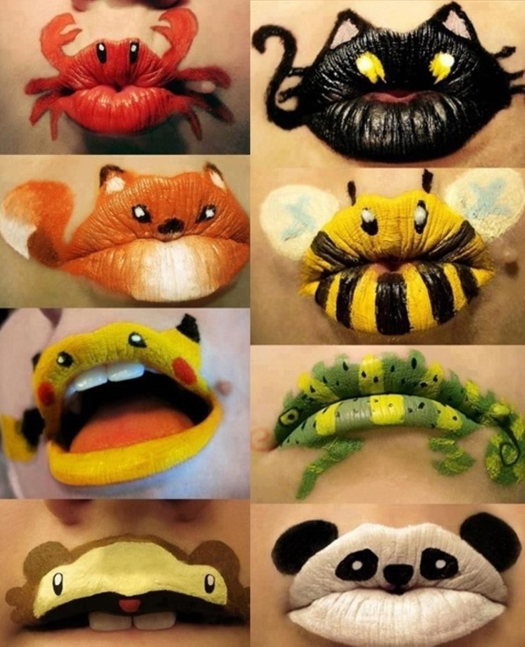 Unusual make-up art for lips