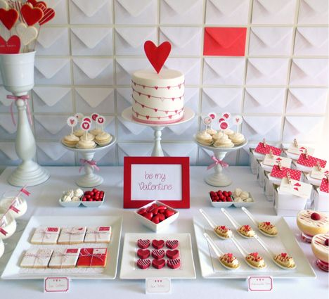 This has to be my to date favorite for Valentines day - dessert table by Just Call me martha