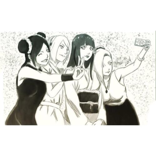 Naruto the last- Naruto and Hinata's wedding. Hinata, Sakura, Tenten, and Ino