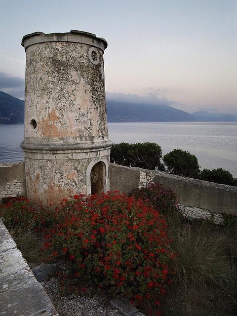 Venetian Lighthouse at Fiskardo #travel #Greece #Kefalonia