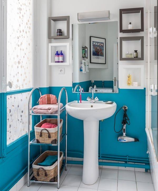 46 best idées deco images on Pinterest Handmade furniture - customiser un meuble de salle de bain