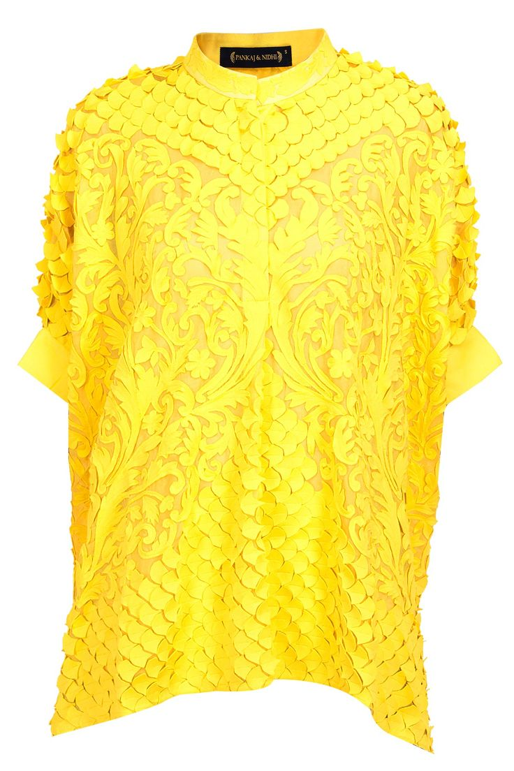 Yellow fully appliqued top available only at Pernia's Pop-Up Shop.