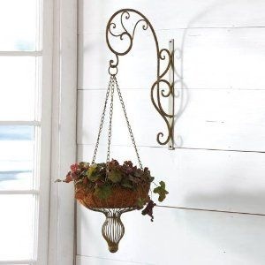 Wall Mount Hanging Planter Metal 11 75x18x37 5 Inches By Outdoor Décor 49 99 A Wonderful Way To Display Your Favorite Plants Great For Yourse