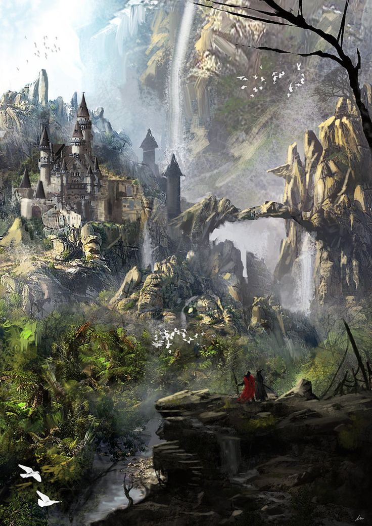 landscapes castles fantasy art - photo #49