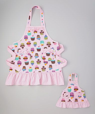 Love this Pink Cupcake Apron & Doll Apron - Girls by Dollie & Me on #zulily! #zulilyfinds