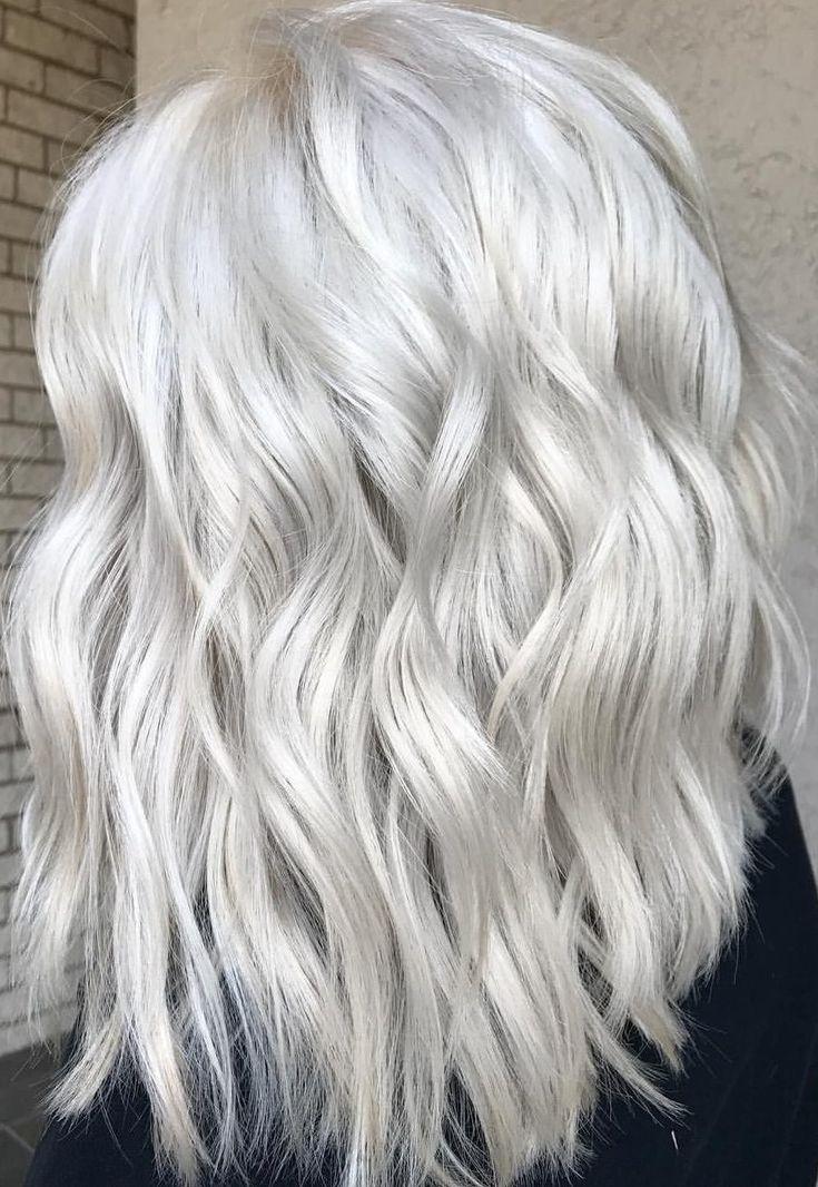 48 Stunning Platinum Blonde Balayages for Summer time 2019