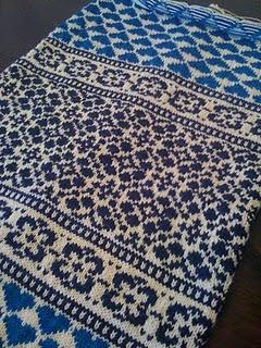 Baby blanket. Beautiful colorwork.