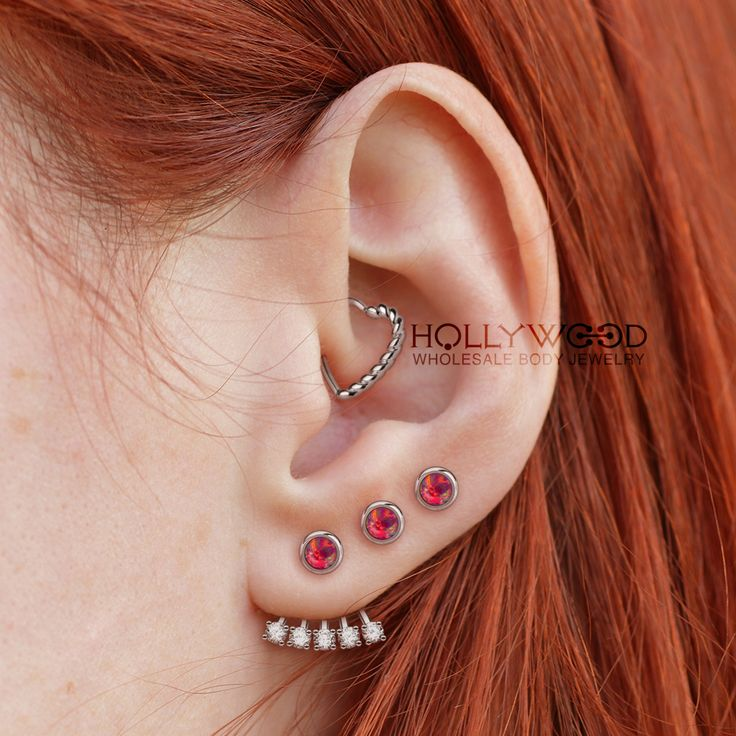Triple ear piercings is a perfect idea. We love it<3 http://www.hollywoodbodyjewelry.com/c/wholesale-body-jewelry/cartilage-tragus/ http://www.hollywoodbodyjewelry.com/c/wholesale-body-jewelry/earrings/ Wholesale Only. ✈️Ships Worldwide Email us at info@hbjus.com 1-866-425-2665 - #Earpiering #earrings #earring #earringsoftheday #piercing #piercings #pierced #piercer #safepiercing #triple #tripleearpiercing #triplepiercing #triplelobe #lobe #daith #earjacket #bodypiercing #bodyjewelry