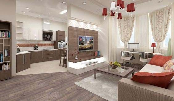 Modern Small Open Plan Kitchen Living Room Design Ideas Zoning Creative For Making A Large And Interior