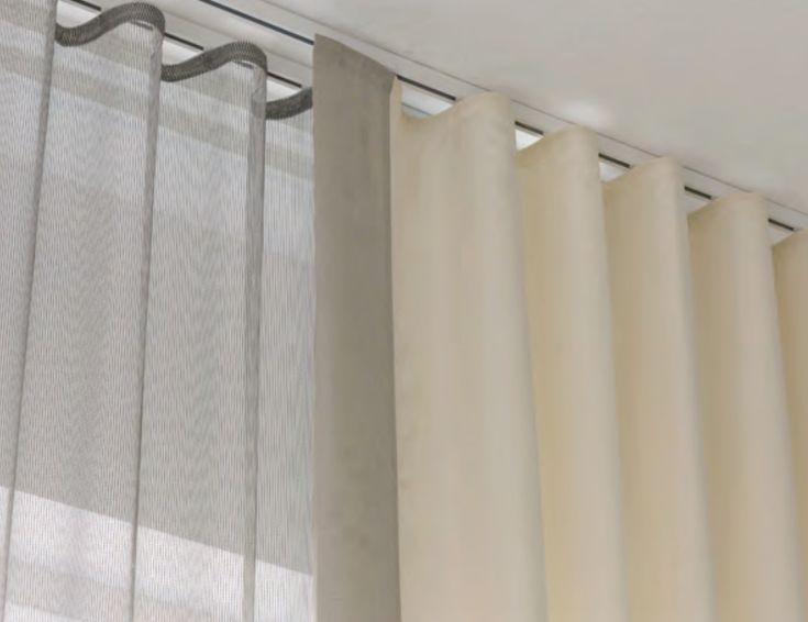 ceiling curtain track  Google Search  house  Curtains