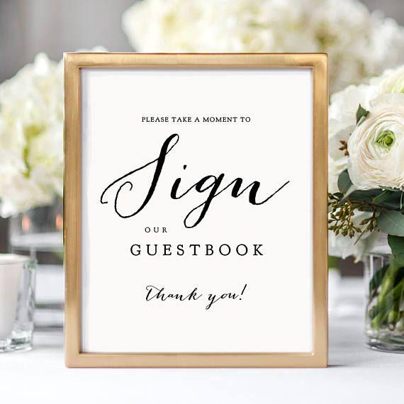 Wooden Wedding Guestbook Sign Wooden Wedding Signs Wedding Sign In Sign WS-234 Sign Our Guestbook Signs Wooden Sign Our Book Sign