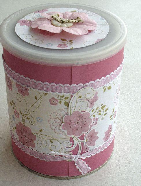 Resultado de imagen de latas de leche decoradas para bautizo