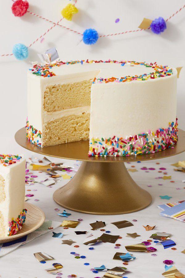 Terrific Classic Birthday Cake Recipe With Images Vanilla Birthday Funny Birthday Cards Online Overcheapnameinfo