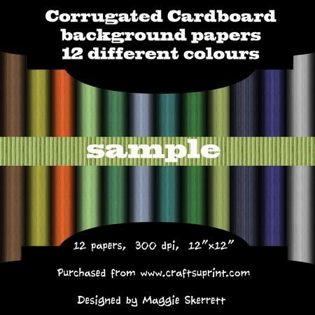 Corrugated Cardboard set 1  on Craftsuprint - Add To Basket!