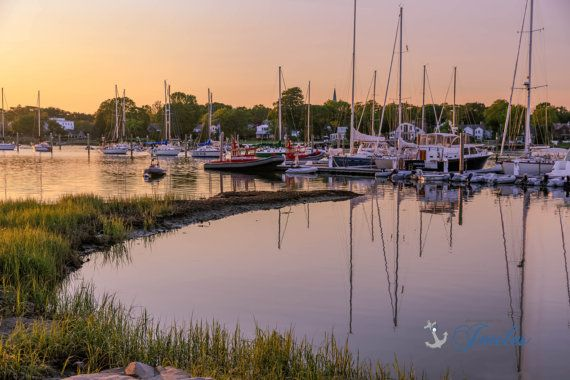 Wickford Reflections  Wickford Rhode Island by PhotographsbyJoules