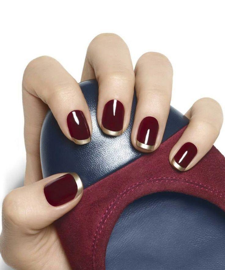 Essie nails. Burgandy w/gold tips....fab!