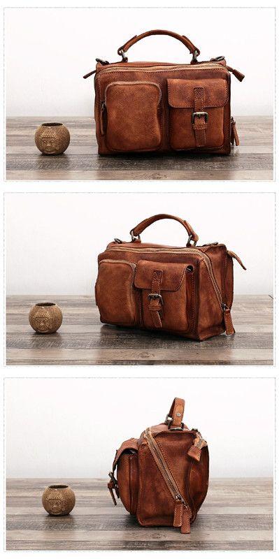 Handmade Full Grain Leather Cross body Bag Designer Women Messenger Bag
