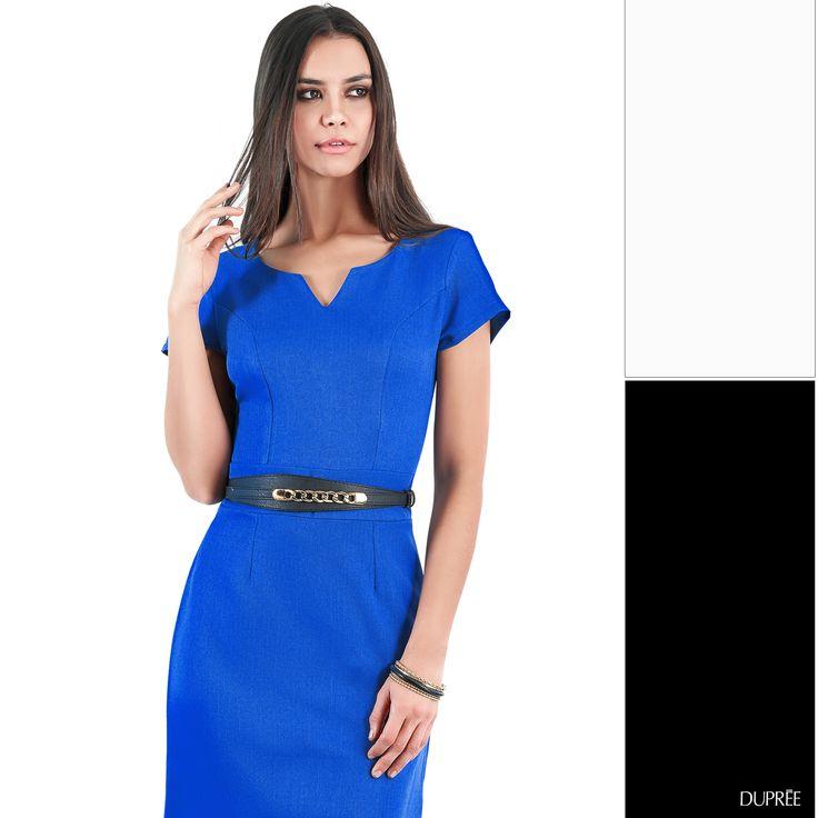 El azul tiene su propio protagonismo. Combina el azul con tonos neutros: blanco o negro. #Duprée