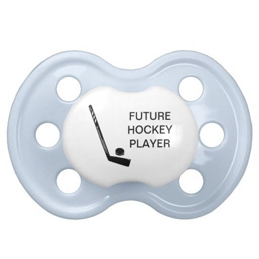 Future Hockey Player Baby Pacifier
