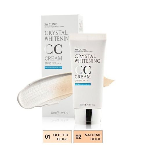 Korean Crystal Whitening BB , CC cream SPF40 PA+++ 50ml 4 Free Wrinkle Whitening
