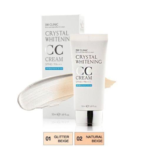 Korean Crystal Whitening BB , CC cream SPF40 PA+++ 50ml 4 Free Wrinkle Whitening