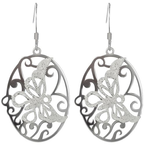 Silver Butterfly Laser Cut Earrings only $23 - purejewels.com.au