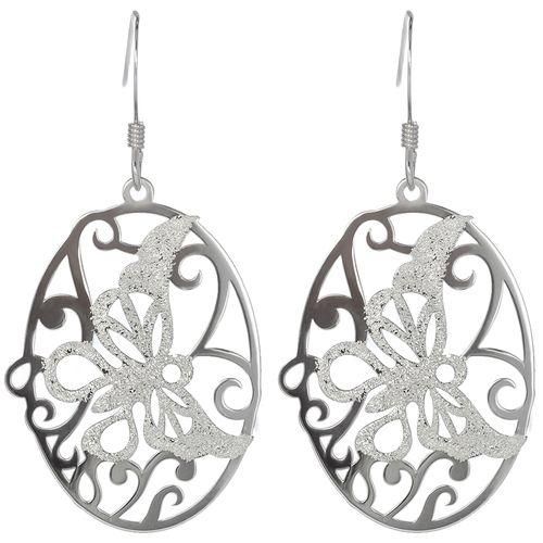 Silver Butterfly Laser Cut Earrings only $23 - purejewels.com.au