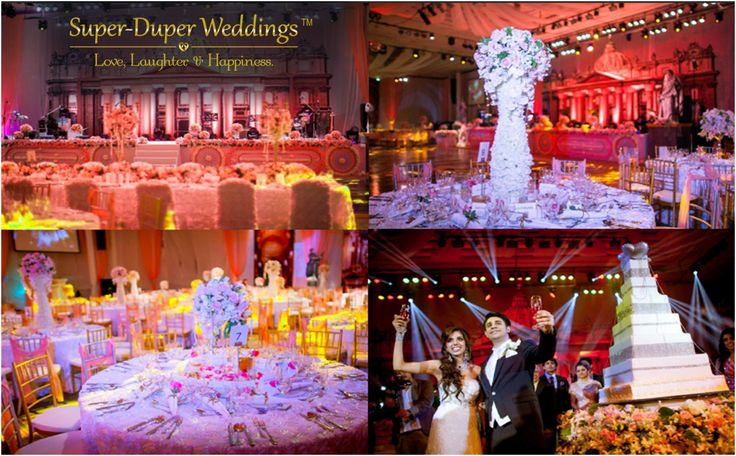 """""""Shouldn't your#ReceptionNightbe dazzling & filled with a plethora of golden memories to treasure!"""" Super-DuperWeddingsis dedicated to make your #weddingdreamcome true. Check out their services on the link below...http://www.superduperweddings.com/ #superduperweddings #weddingdecor #indianweddingplanner #weddingreceptions #destinationwedding #bigfatindianwedding #weddingreception #happycouple #weddingcake #indianweddignbuzz #weddingorganizer #shaadi #weddingfunmusic"""