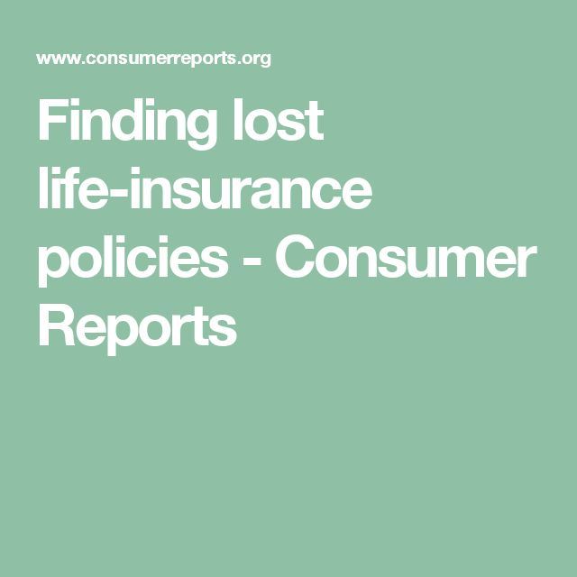 Finding lost life-insurance policies | Life insurance ...