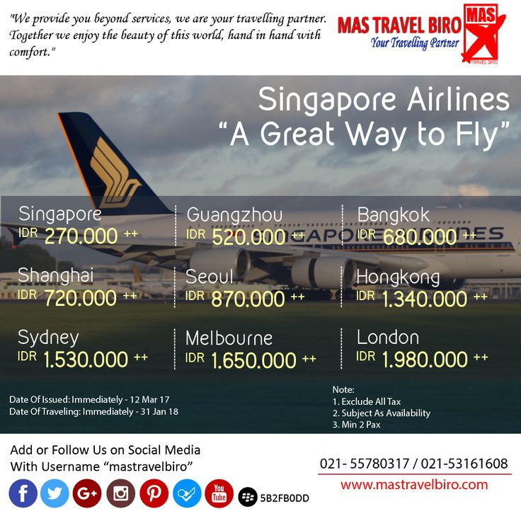 Singapore Airlines Promo , Check this out ;) #mastravelbiro #singaporeairlines #promo #tiketmurah