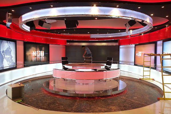 Nrt News Studio Tv Set Design Stage Set Design Studio