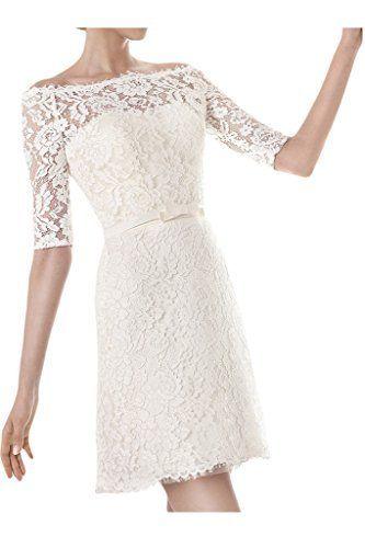 Ivydressing Damen U-Ausschnitt Halb-Aermel Kurz Abendkleid Brautkleid Hochzeitskleid, http://www.amazon.de/dp/B016XX8RNE/ref=cm_sw_r_pi_awdl_aX5Qwb1Q9A706