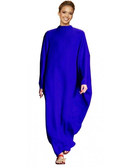 ELEGANT , GORGEOUS & BEAUTIFUL PLAIN KAFTAN - BLUE