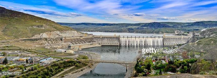 Stock Photo : Panoramic View of Grand Coulee Dam , WA