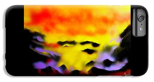 Land Of Heavens IPhone 6s Plus Case Printed with Fine Art spray painting image Land Of Heavens by Nandor Molnar (When you visit the Shop, change the orientation, background color and image size as you wish)