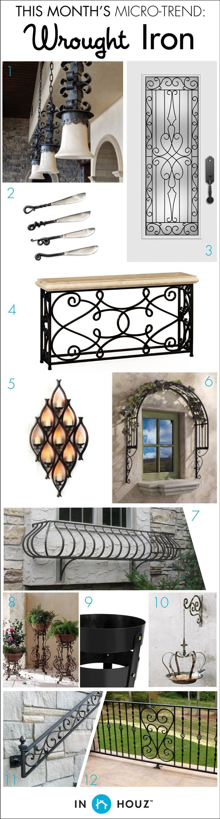 Perfect MICRO TREND // HOME DESIGN: WROUGHT IRON. Bring Some Districtive Old World  Hospitality To Your Home With The Design Style. These Products Would Be A  Perfect ...