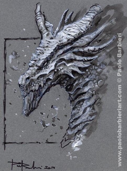 Dragon by Paolo Barbieri. Acrylic on board. http://www.paolobarbieriart.com/ #art