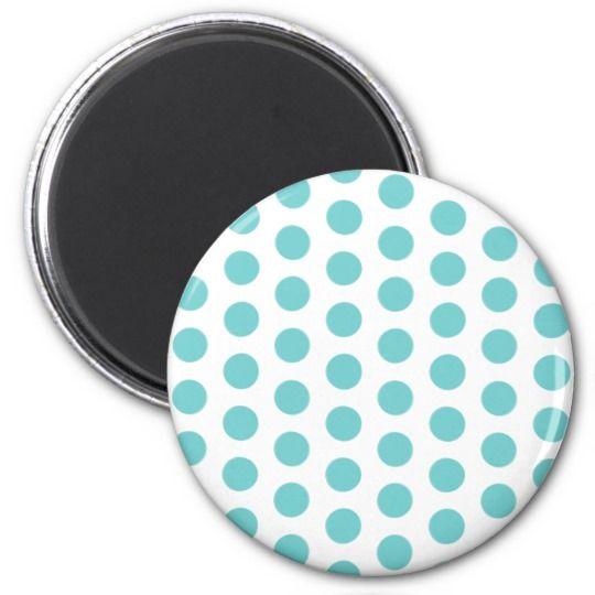 Polka dot pattern white fabric circles dots ovals magnet