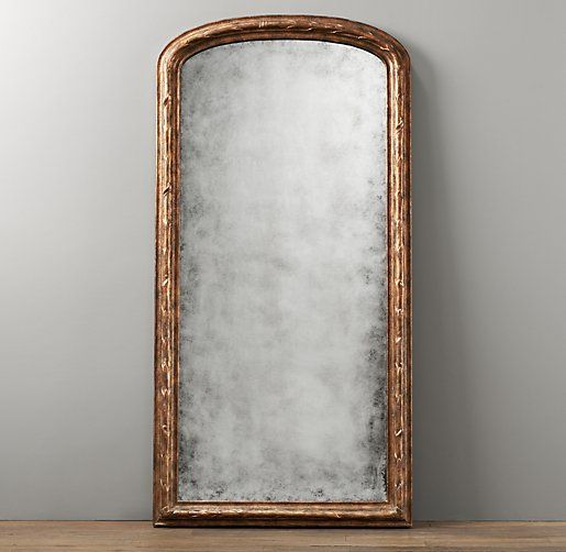 Vine carved leaner mirror mirrors restoration hardware for Mirror 0 zfs