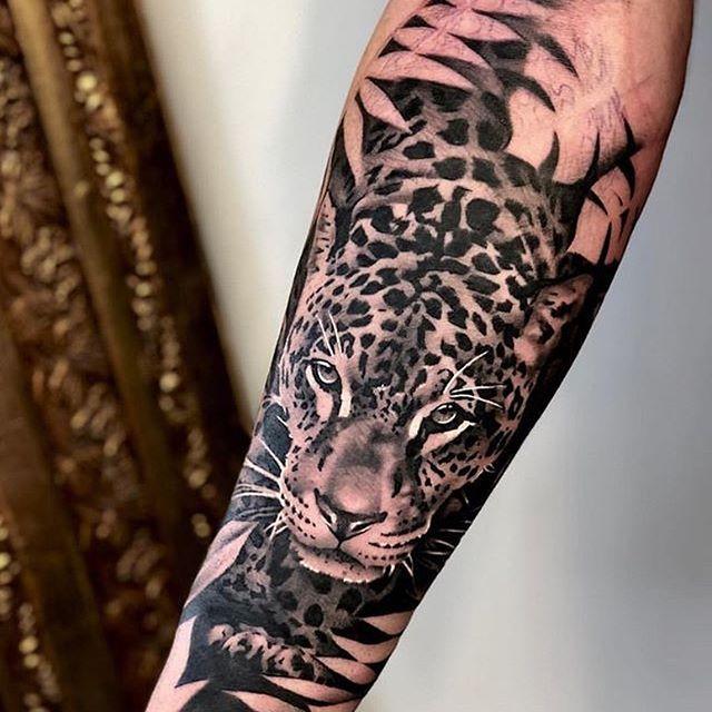 Tattoos Tattoos Ideas Gym Worldwide Jungle Painting Ink Life Art Fashion Music Nature Fitness Animals In Leopard Tattoos Tiger Tattoo Sleeve Jaguar Tattoo