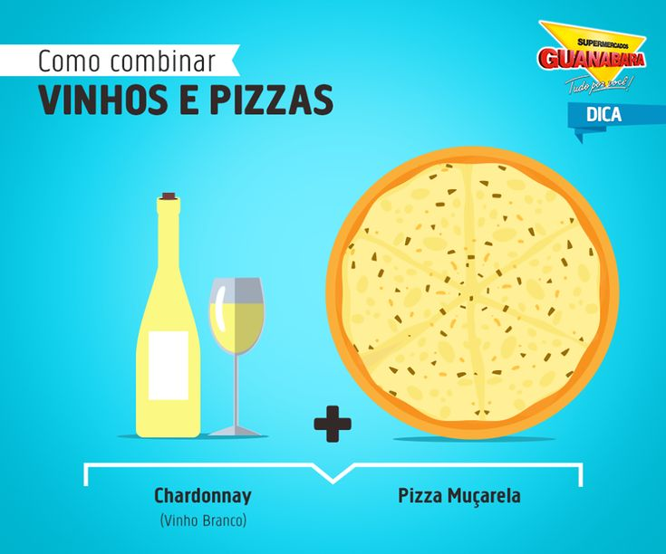 Chardonnay + Pizza de Muçarela — Supermercados Guanabara