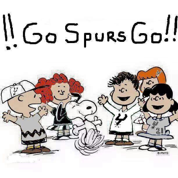 Go Spurs Go. Charlie Brown Gang