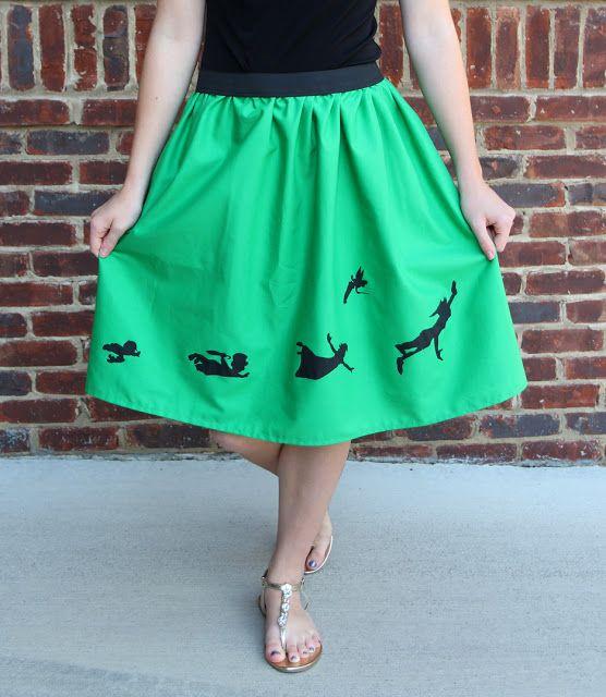 How to Stencil on Fabric & Elastic Waist Skirt Tutorial @prettyprudent
