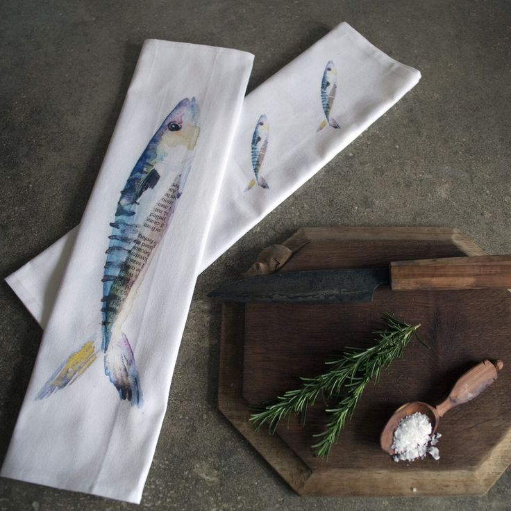 One of my favourite items from the shop and I love how well they photographed too! Perfect gift for a keen foodie or fisherman this Christmas! #christmas #christmaspresents #giftsforhim #fishing #cookery #cooking #kitchenware #linen #teatowels #mackerel
