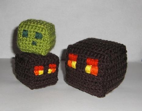 draadje's blog: Free Pattern: Minecraft Magma Cube & Slime