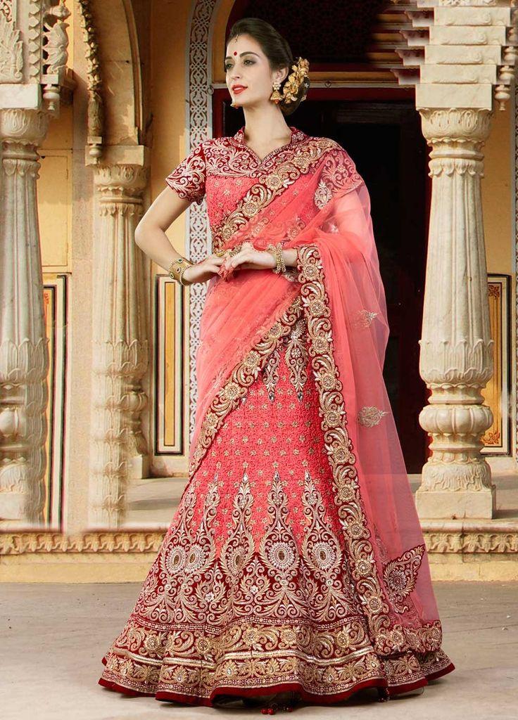 Latest Designer Lehenga Choli In Velvet For Rajasthani Brides