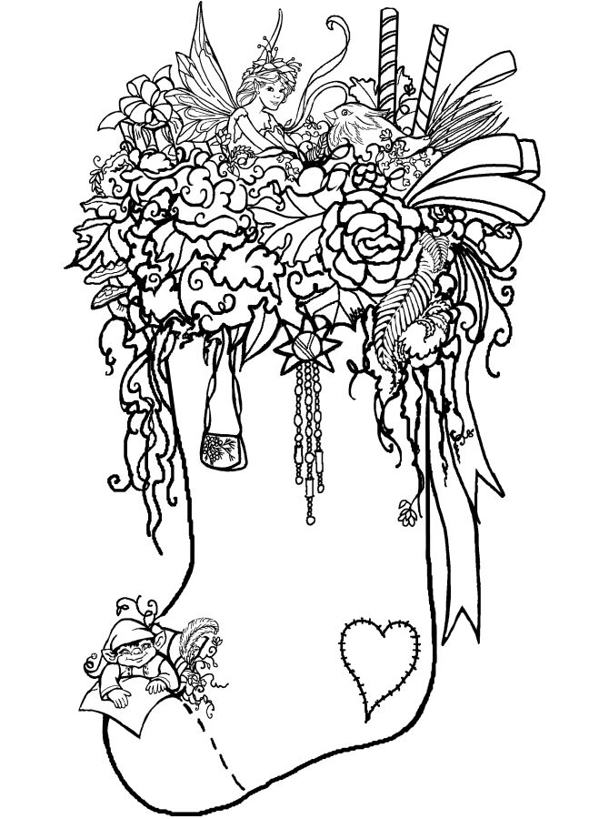 107 Best Christmas Stockings Printables Images On Pinterest - plain stocking coloring pages
