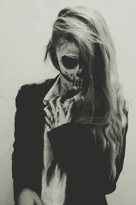 This was clearly used in a photo shoot, I like the way the hand has also been made up like a skeleton, against the clothing it stands out and the way the hair is all messy it represents death and how nothing is perfect.